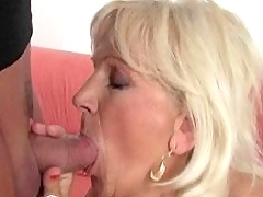 Older blonde gets fucked hard