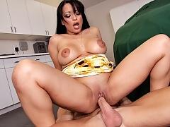 Sexy milf fucks her daughters boyfriend in the garage