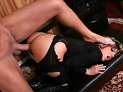 This tiny chick gets pounded in her tight ass