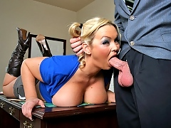 Abbey Brooks goes to see Mr Dera to talk about her student fees situation