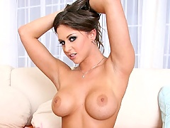 Sexy hot chick Rachel Roxx with huge tits getting fucked by giant cock