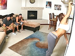 Devon Micheals gets fucked hard by her sons friends hard cock