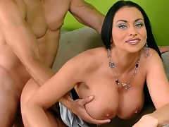 Big titted milf Harley Rain sucks and fucks
