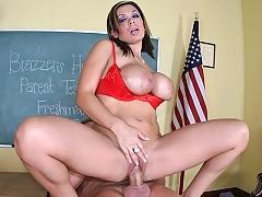 Sienna West fucks her sons teacher to keep him in school