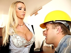 Nikki Benz gives a titty motivation to her employee manager