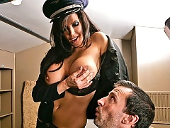 Miss Sights gets slammed hard by a thick dick
