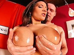 Big titted mature Austin Kincaid taking good care of that hard cock