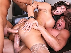 Deauxma gets a double dosage of cock at the office