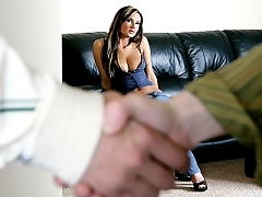 Amy Reid husband watches her getting slammed by another dick