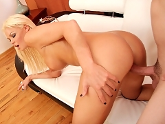 Rhylee Richards takes a fully hard cock down her tight mommy pussy